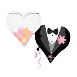 Шар с гелием Сердца свадебные