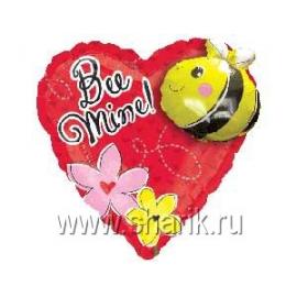 Шар с гелием СердцШе с пчелой